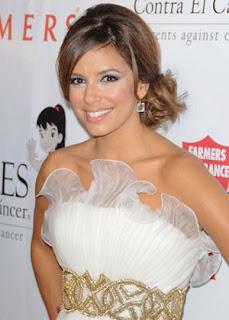 Eva Longoria Chignon Hairstyle