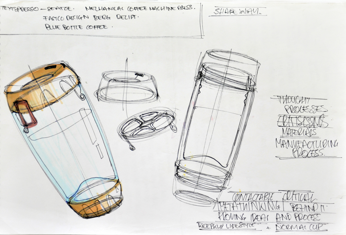 Industrial design sketches by monash university industrial design