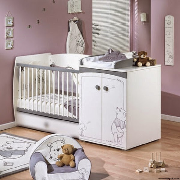 Id e d co chambre b b winnie l 39 ourson b b et for Idee de chambre bebe fille