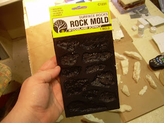 a scenic woodlands rock mold