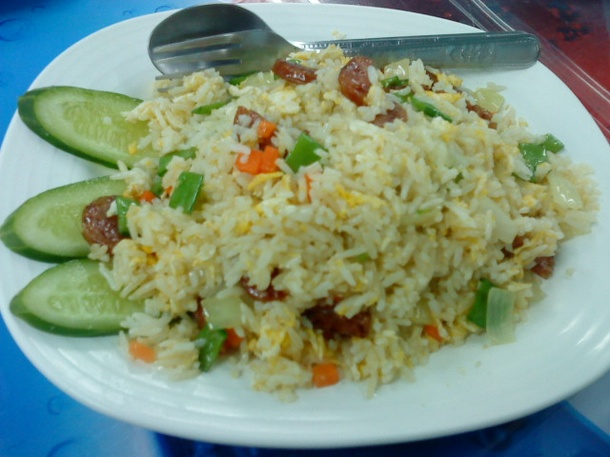 Recipe for Thai fried rice-Chinese sausage fried rice