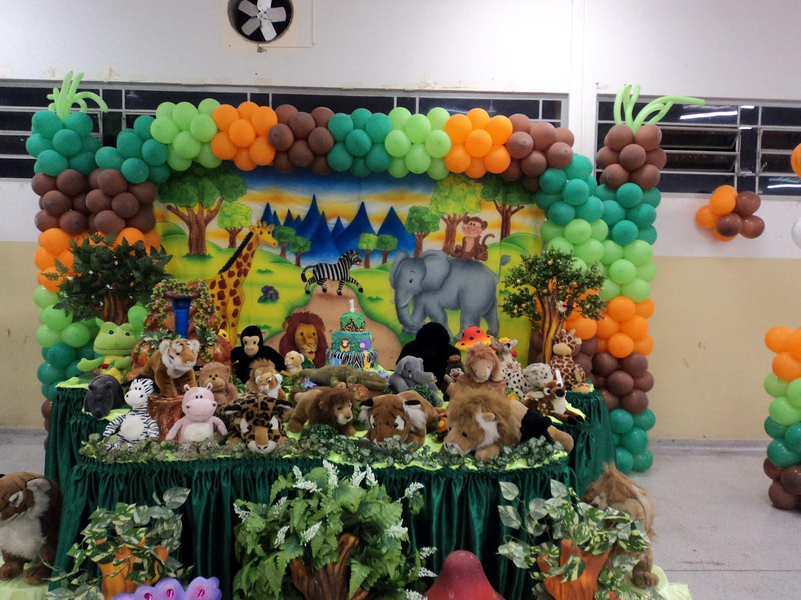 decoracao festa safari:Toque Mágico decoração de festa infantil: Safari