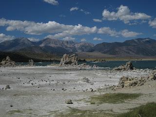 Alkaline deposits exposed along the shore of Mono Lake, California