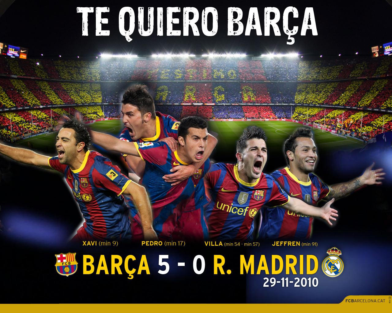Partidos Memorables Futbol Club Barcelona  Barcelona Real Madrid 5 0