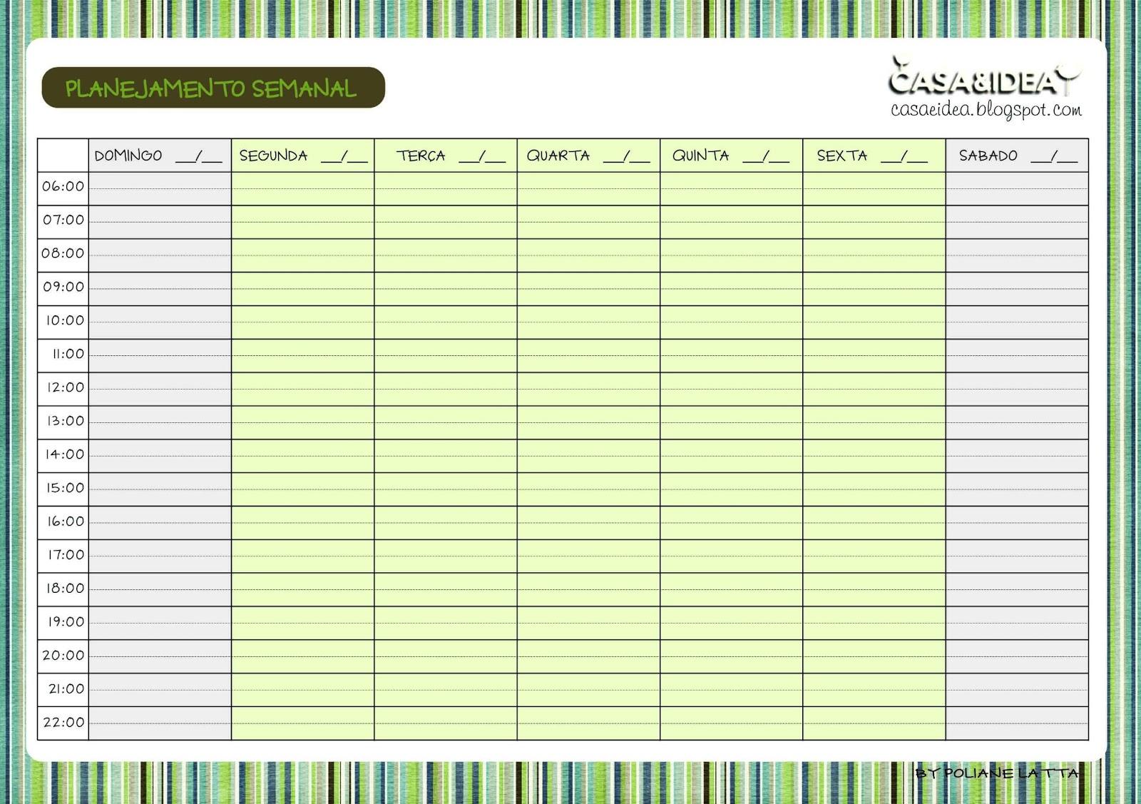Calendario Semanal Para Imprimir | newhairstylesformen2014.com