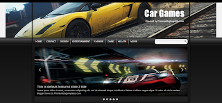 Car Games Blogger Template isa 3 Column Dark Color Blogger Template.