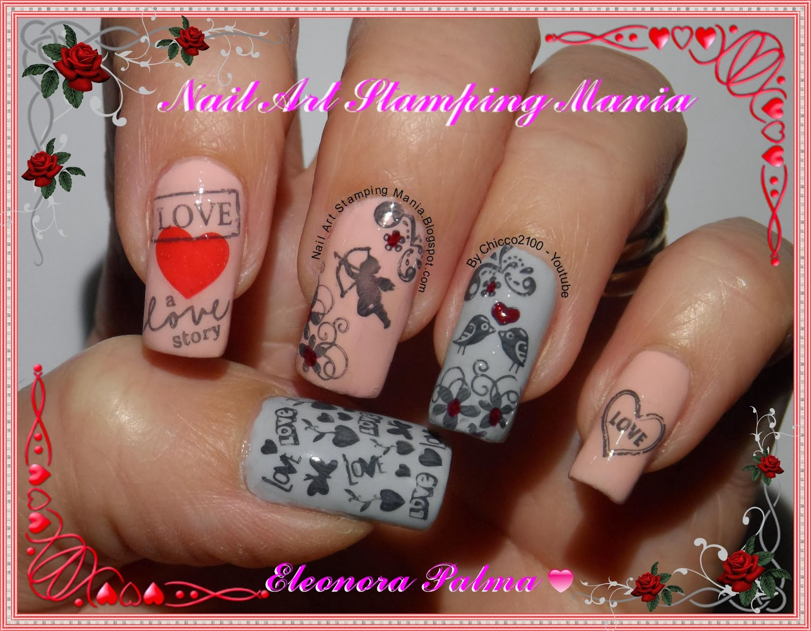 Nail art stamping mania essence love letters nail polishes review stampy set and diary prinsesfo Image collections