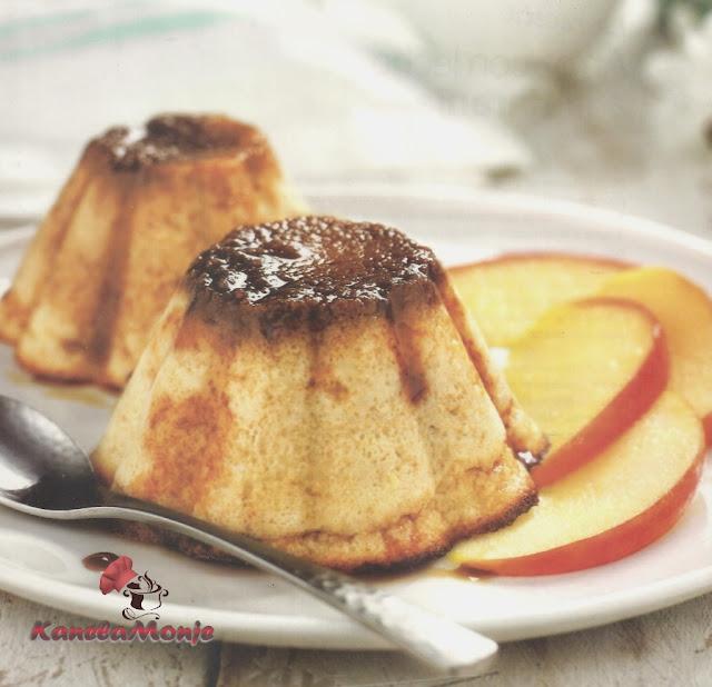 Flan de manzana y galleta