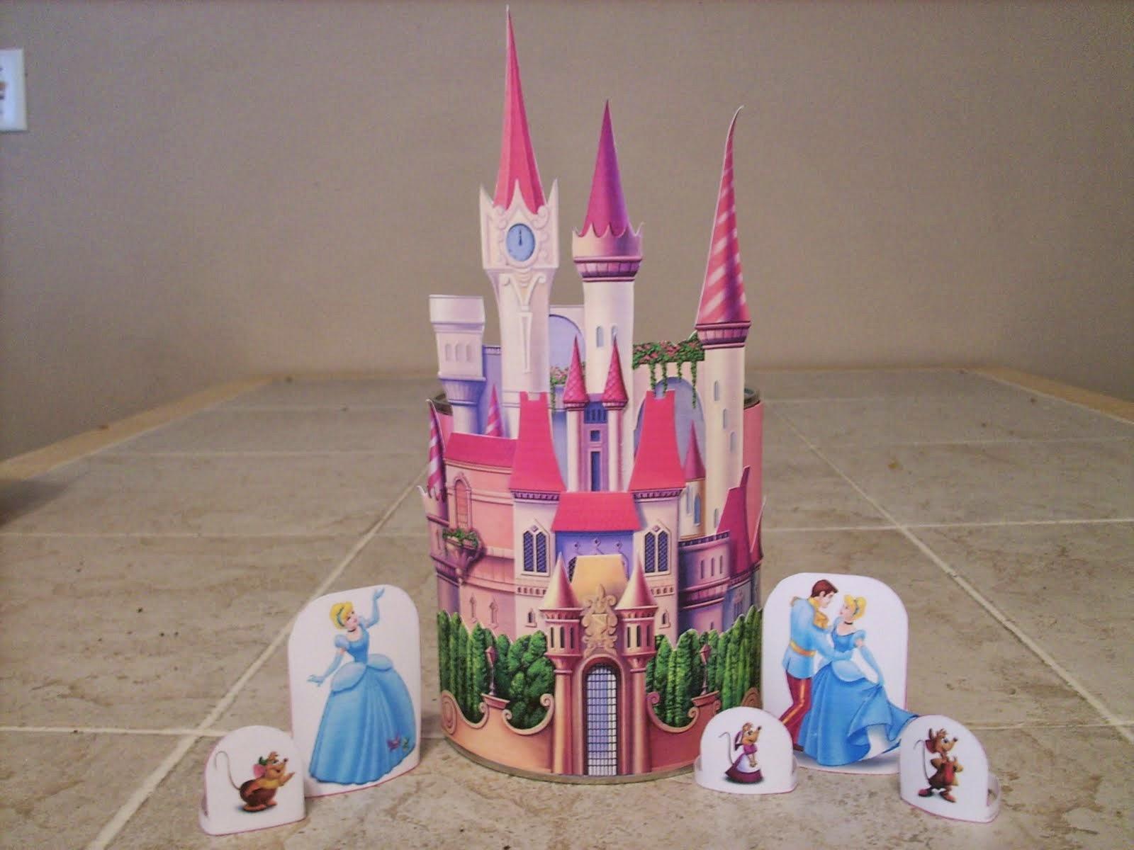 Adorable Castillo de Cenicienta para Imprimir Gratis.
