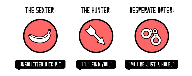 Infografía sobre los insultos más utilizados en Tinder