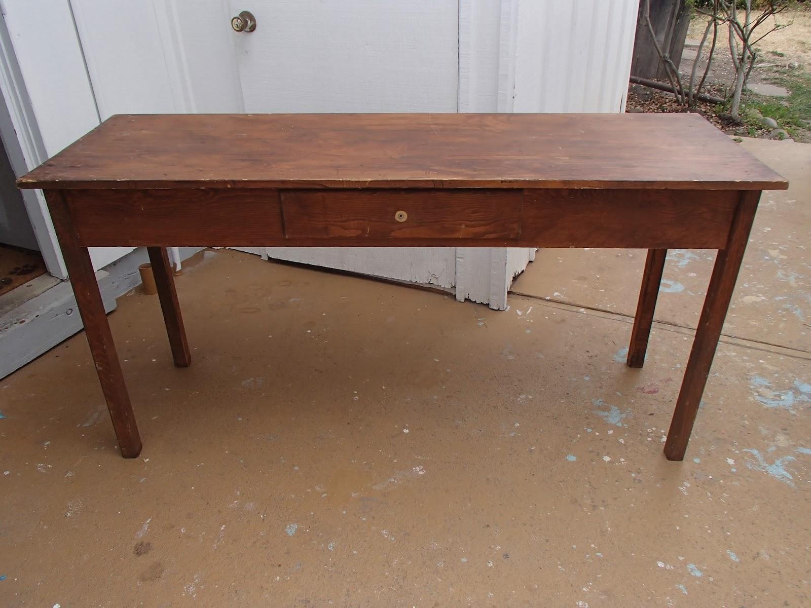 d d 39 s cottage and design long farm table desk. Black Bedroom Furniture Sets. Home Design Ideas