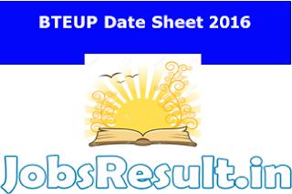 BTEUP Date Sheet 2016