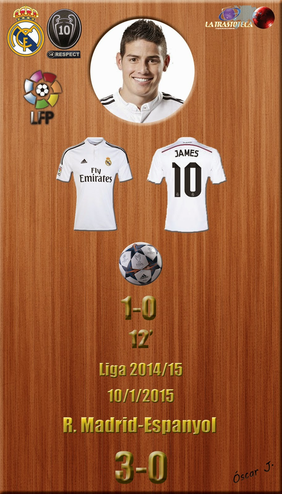 Real Madrid 3-0 Espanyol - Liga 2014/15 - Jornada 18 - (10/1/2015)