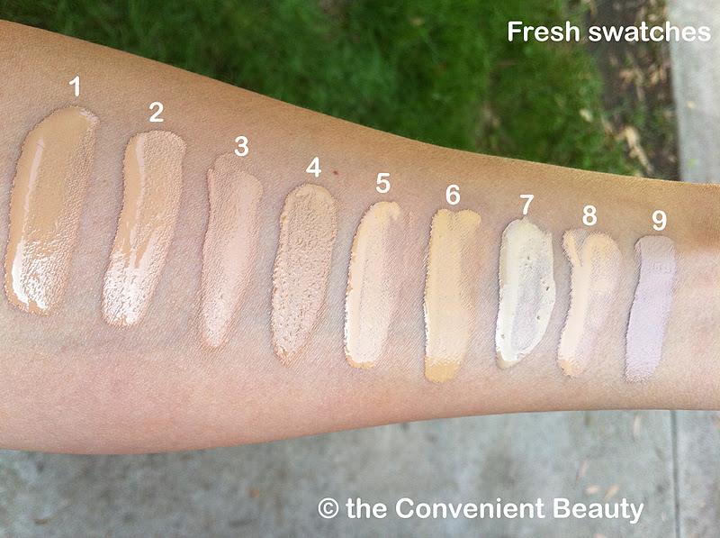 The Convenient Beauty Foundation Swatches Giorgio