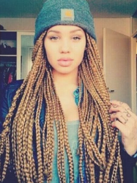 Jumbo Braids Hairstyles Jumbo braids with colour 30