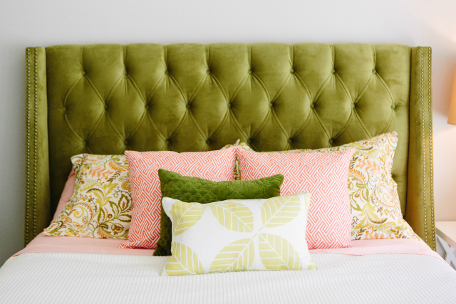 green headboard  desireofnations, Headboard designs