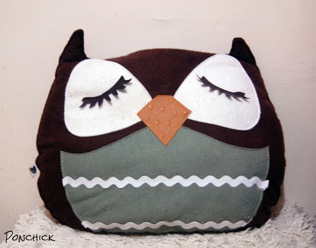 owl pillow etsy
