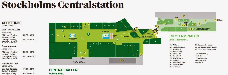 Karta Over Stockholms Central Stockholm Capital Of Sweden