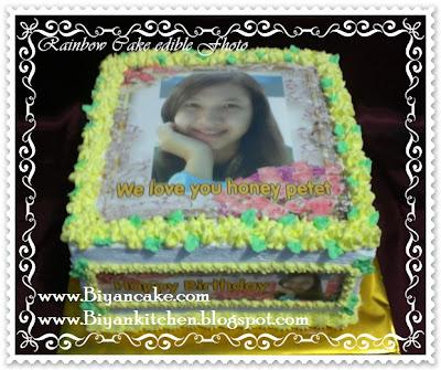 Rainbow cake edible Fhoto