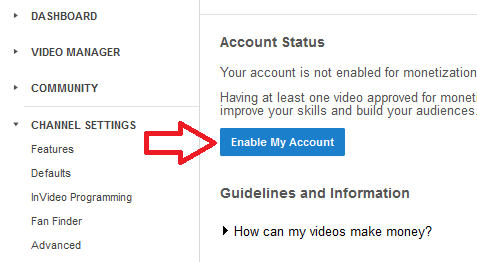 adsense approved through youtube