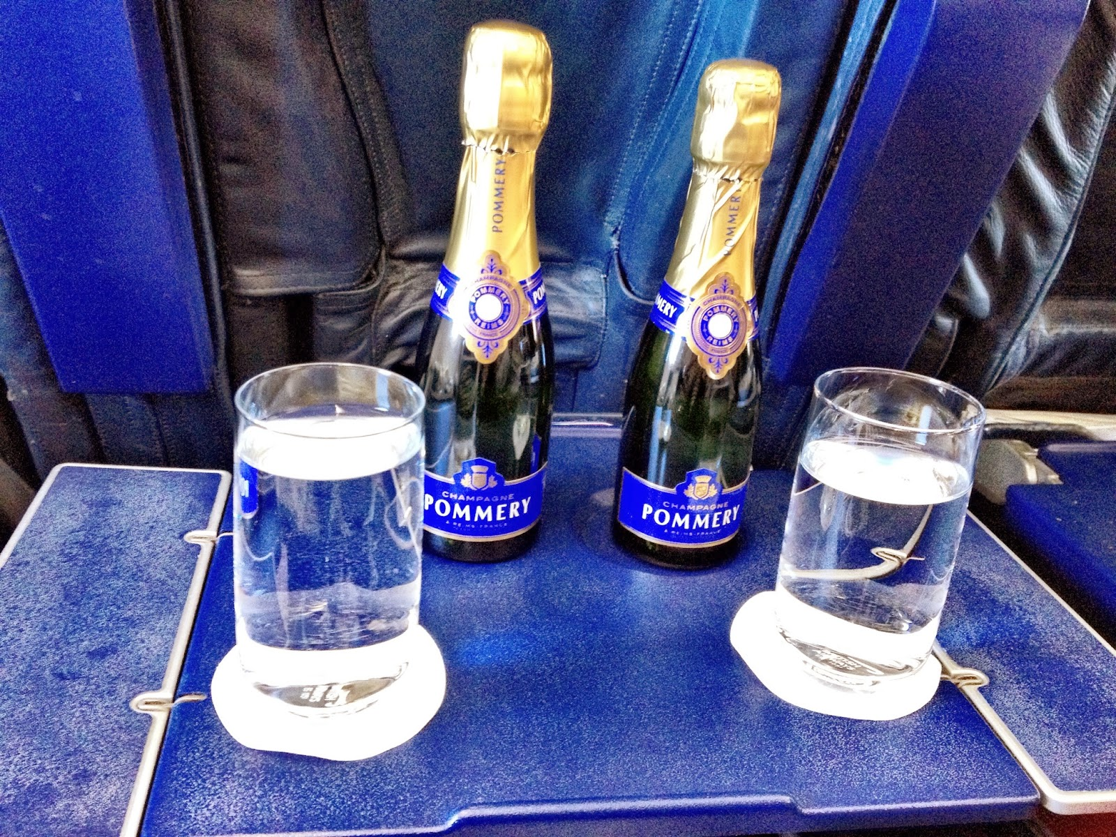 Champagne on the BA flight to Munich