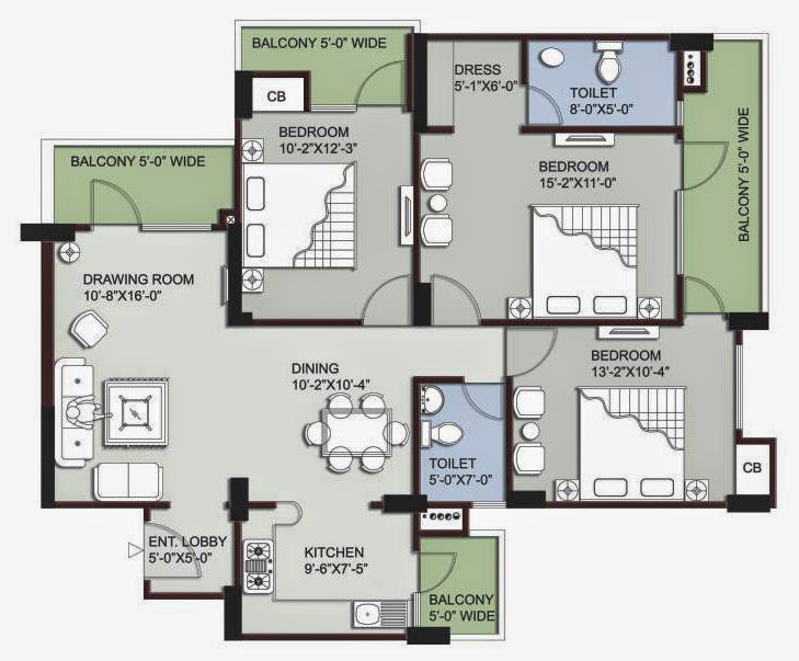 Supertech Ecovillage 3 floor plan