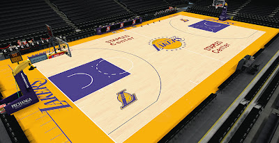 NBA 2K14 Lakers HD Court Mod
