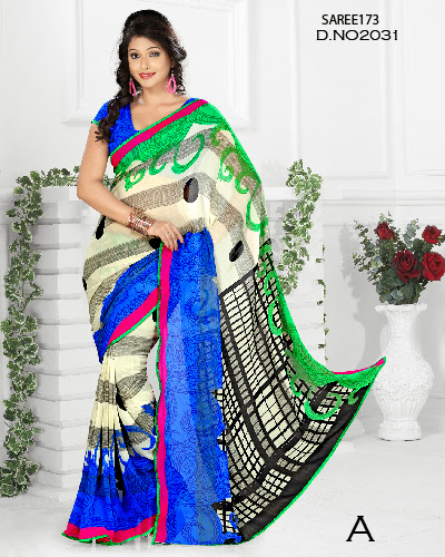 Latest Designer Georgette Printed Saree