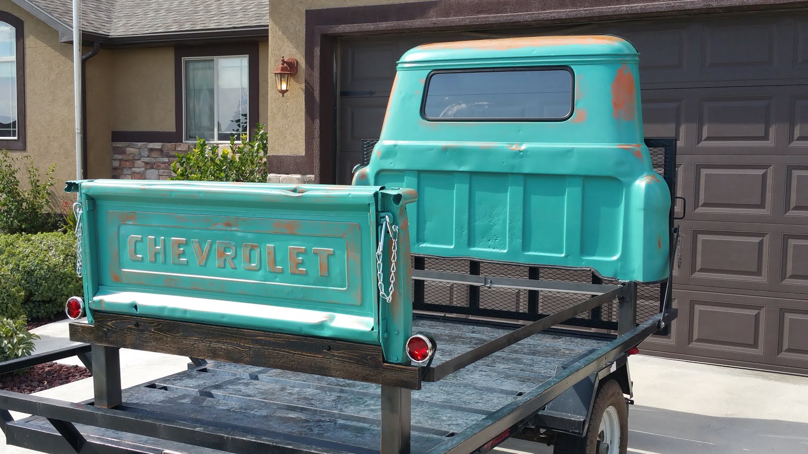 old truck made into a bed - Truck Bed Frame