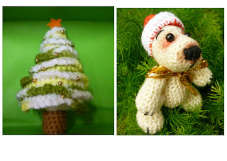 crochet christmas polar bear and christmas tree mini cute pattern