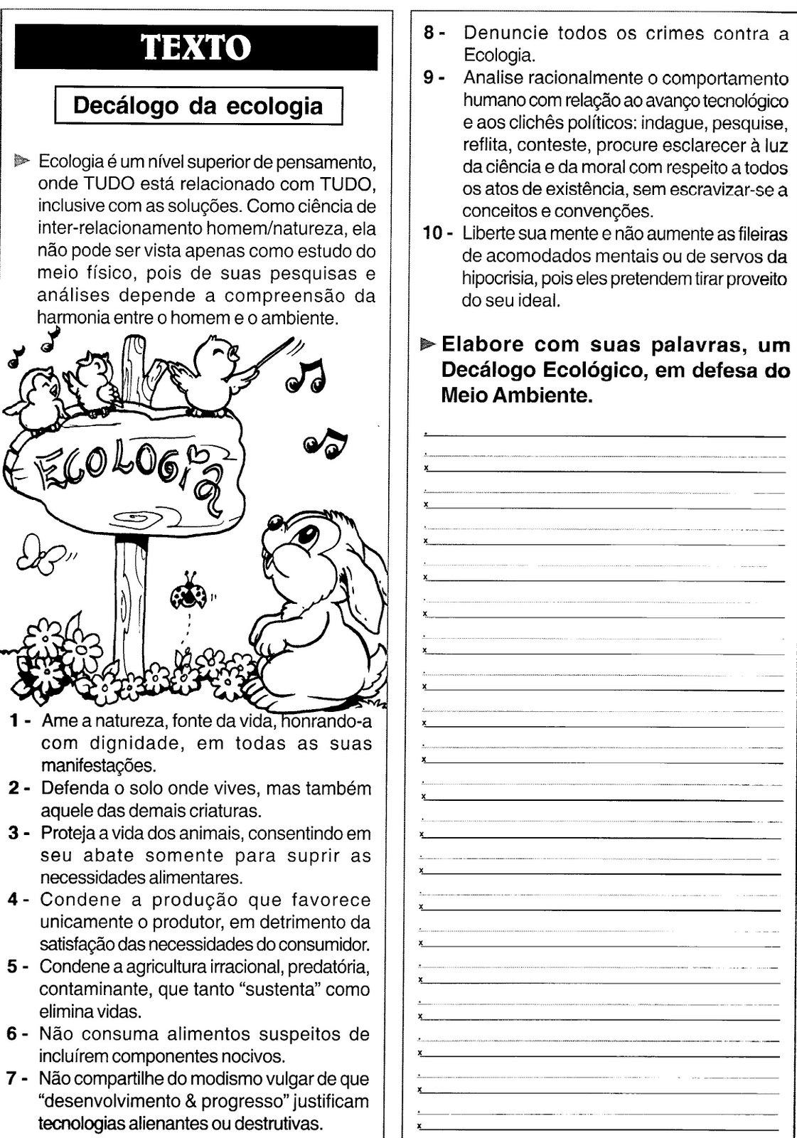 Conhecido ESPAÇO EDUCAR: 50 Atividades Meio Ambiente! PG06