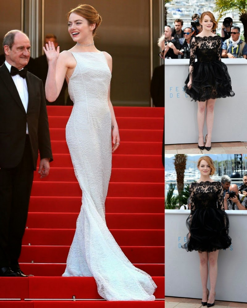 Cannes 2015: Emma Stone Sizzling in White Dress