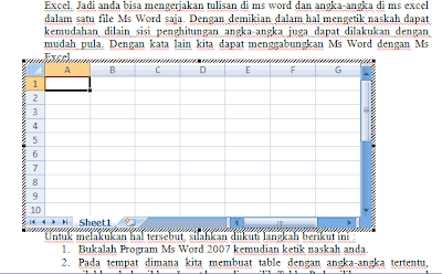 menggabungkan ms word dengan excel