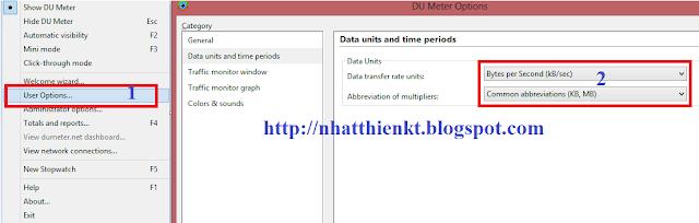 Phần mềm quản lý và xem tốc độ internet - DU Meter 6.20