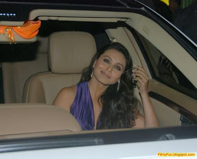 Rani Mukherjee arrives for the Filmfare Awards at Yash Raj Studio Mumbai_FilmyFun.blogspot.com