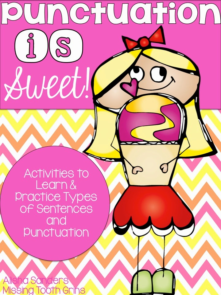 http://www.teacherspayteachers.com/Product/Punctuation-is-Sweet-Activities-to-Practice-Types-of-Sentences-Punctuation-1184446