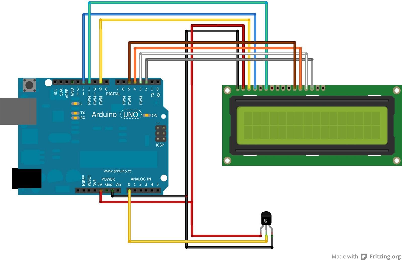 Ham radio mipl arduino temperature sensor lm