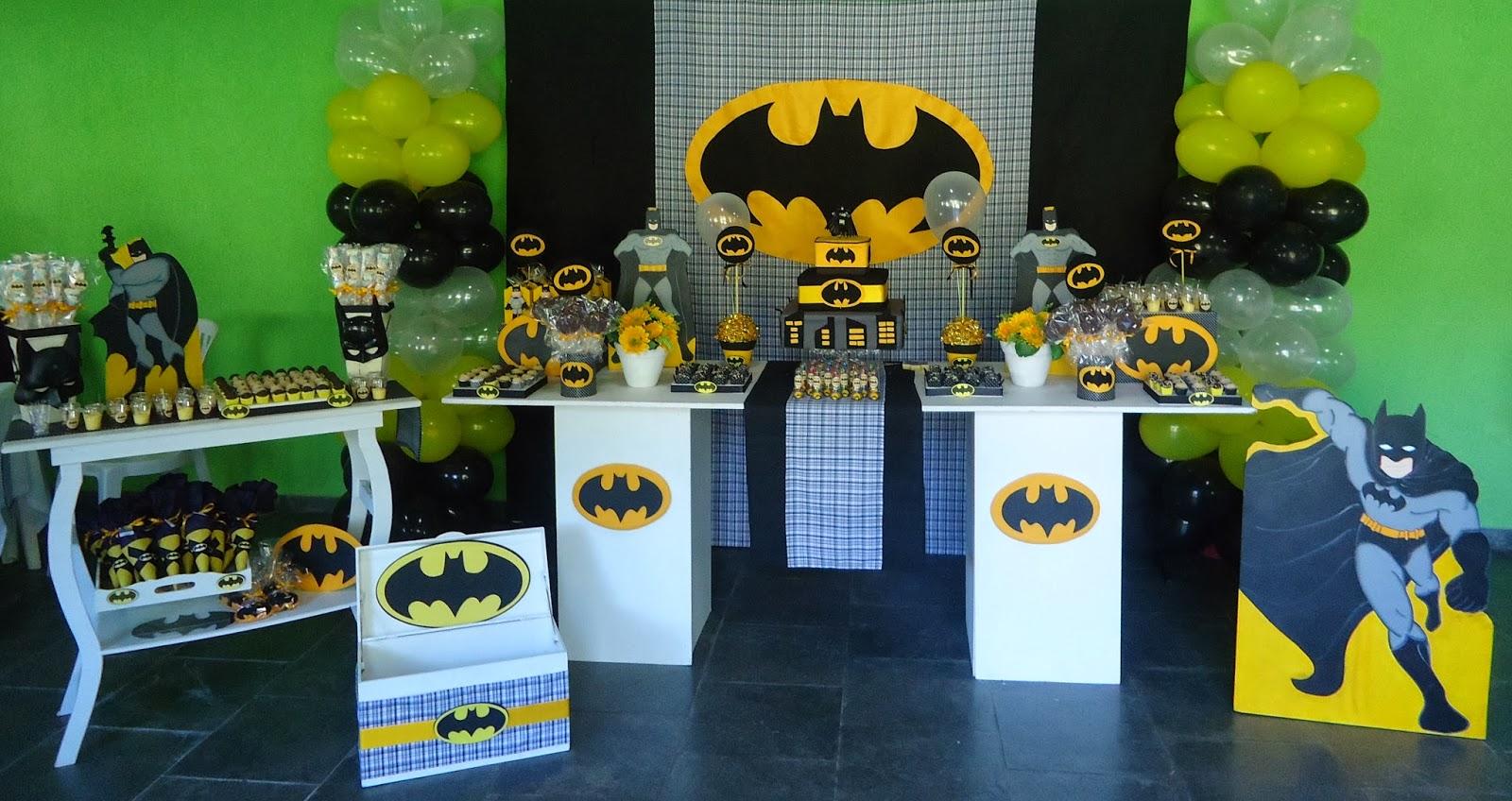 """decoracao festa batman: DECORAÇÃO DE FESTA INFANTIL: Decoração Batman """"Antonio – 7 anos"""