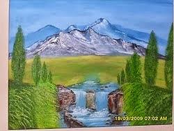 umetnička slika PLANINSKI IZVOR ulje na platnu-Vladisav Bogicevic slikar Luna-Nis