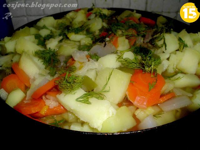 Warzywa na patelnię, domowe warzywa na patelnię, warzywa do obiadu, obiad z warzywami, dietetyczny obiad
