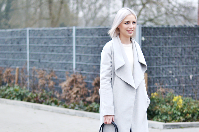 Mango grey wool coat, trend 2015, oversized coat, light grey, fashion blogger