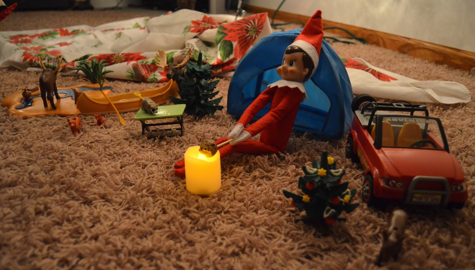 Elf On The Shelf Day 4 Elfis Goes Camping