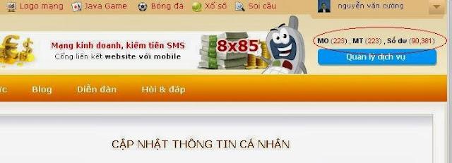 đăng bán ebook với sms