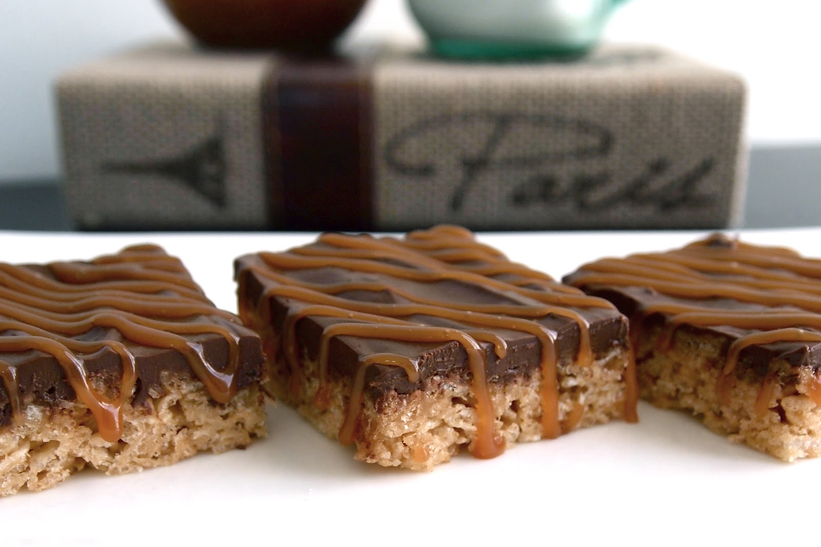 Rice Krispie Treats With Chocolate, Toasted Walnuts And Caramel - The ...