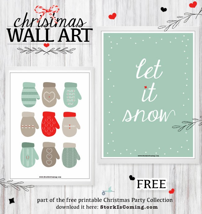 Free Christmas Wall Art Printables