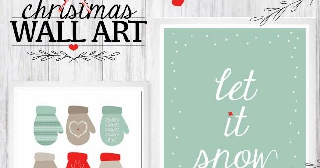 Christmas Wall Decor Printables : The stork is coming free christmas wall art prints for you