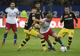 Dortmund Takluk 1-3 di Kandang Hamburg