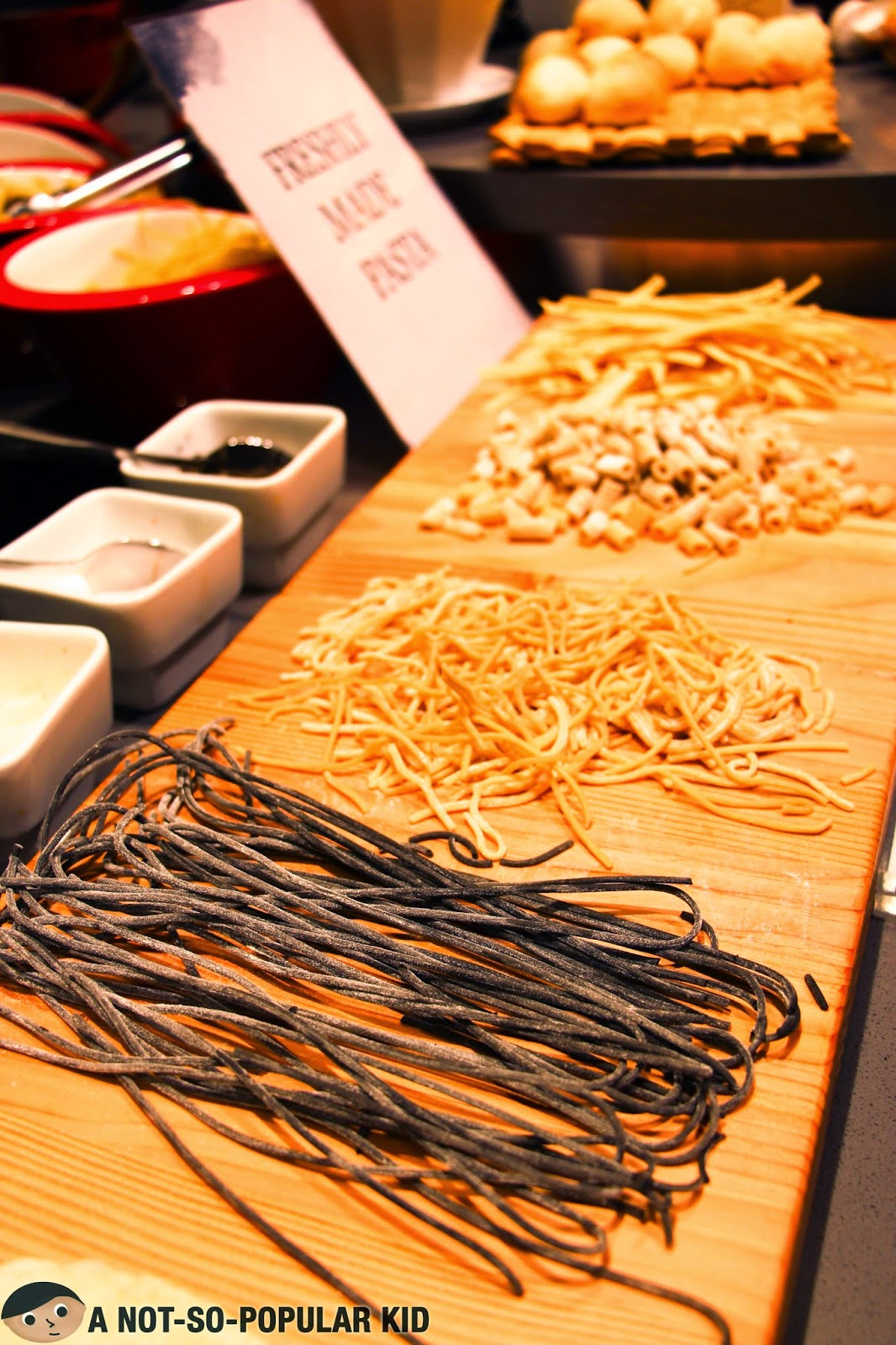 Freshly made pasta in Vikings Buffet