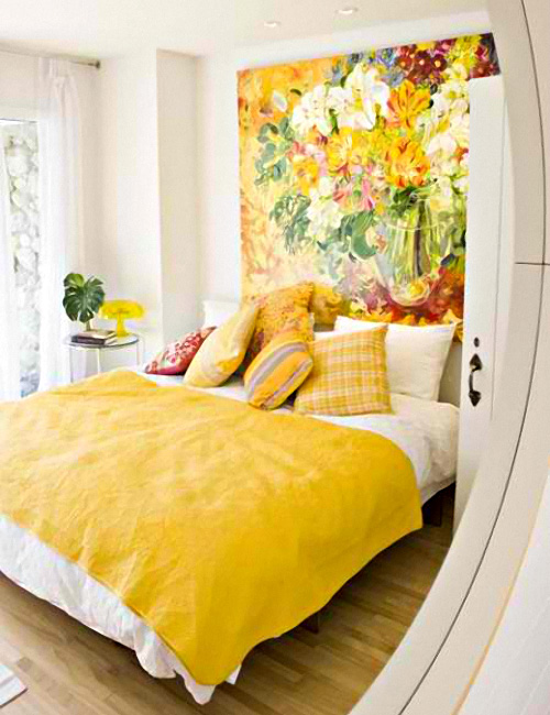 22 BEAUTIFUL YELLOW THEMED SMALL BEDROOM DESIGNS ~ Interior Design Inspirations for Small Houses