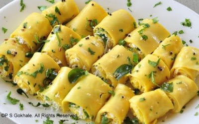 Recipes for all OccasionsSurali Chi Wadi/ KhandviChickpea and